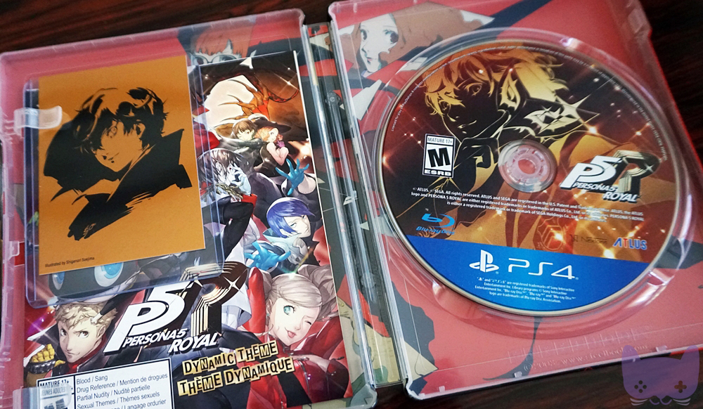 P5R Phantom Thieves Edition PS4 CD With Steelbook Case