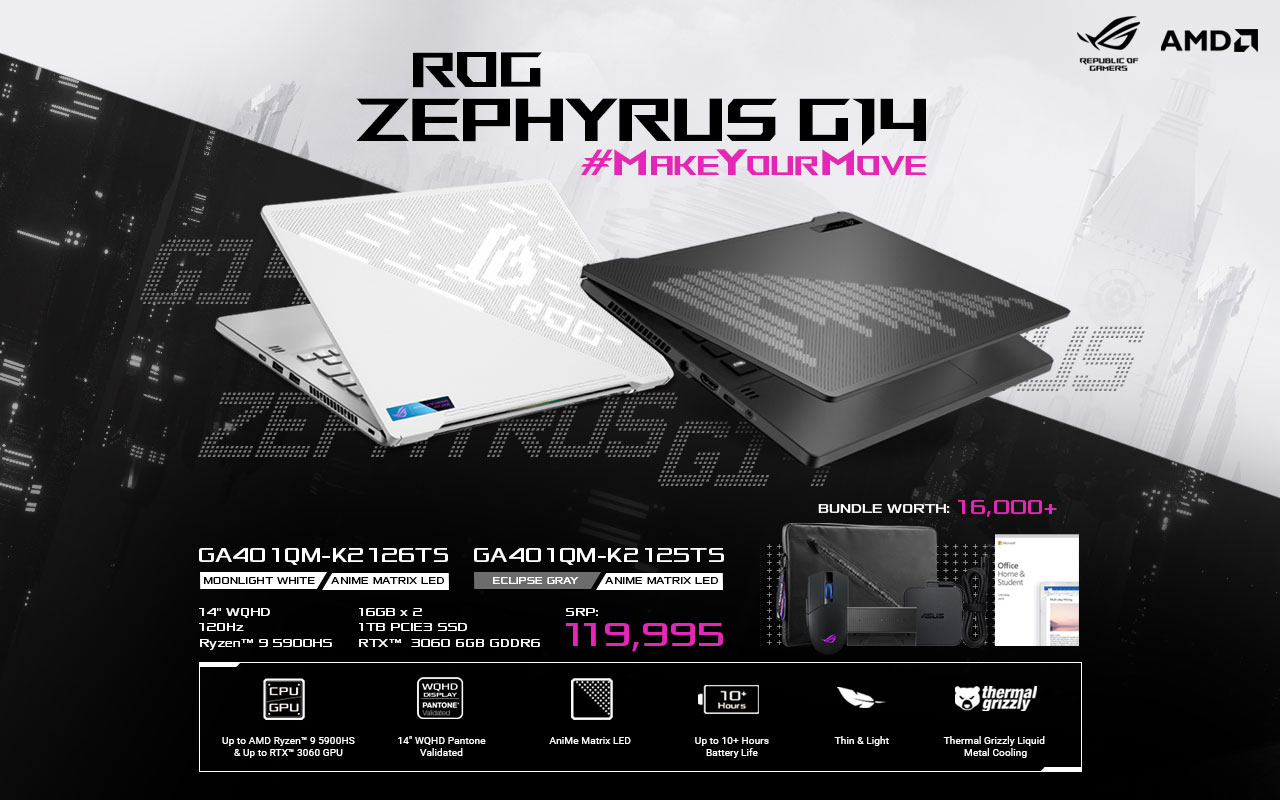 ASUS ROG Zephyrus G14 2021 – Specs, Pricing, & Availability
