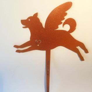 Shiba Inu Pet Angel garden marker