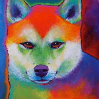Shiba Inu Acrylic Painting