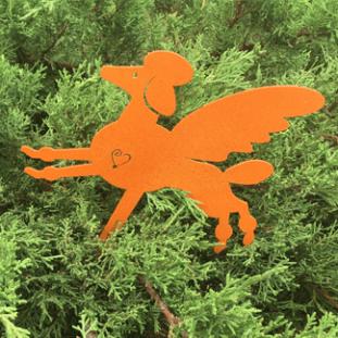 Poodle Garden Marker Orange