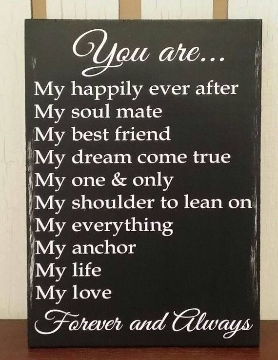 Love Quotes Anniversary Wedding Birthday Gift For Him Or