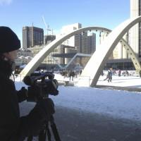 Grant Hoeppner during Toronto video shoot January 2013