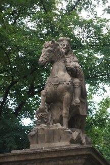 Памятник святому Вацлаву.