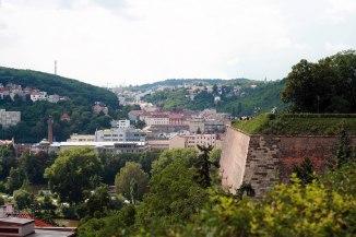 Вид на южную часть укреплений Вышеграда. Мы жили рядом с этой стороной.