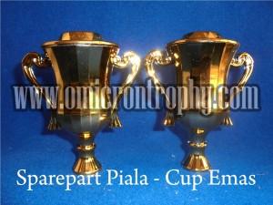 Jual Sparepart Piala Trophy Marmer Murah - Cup Emas