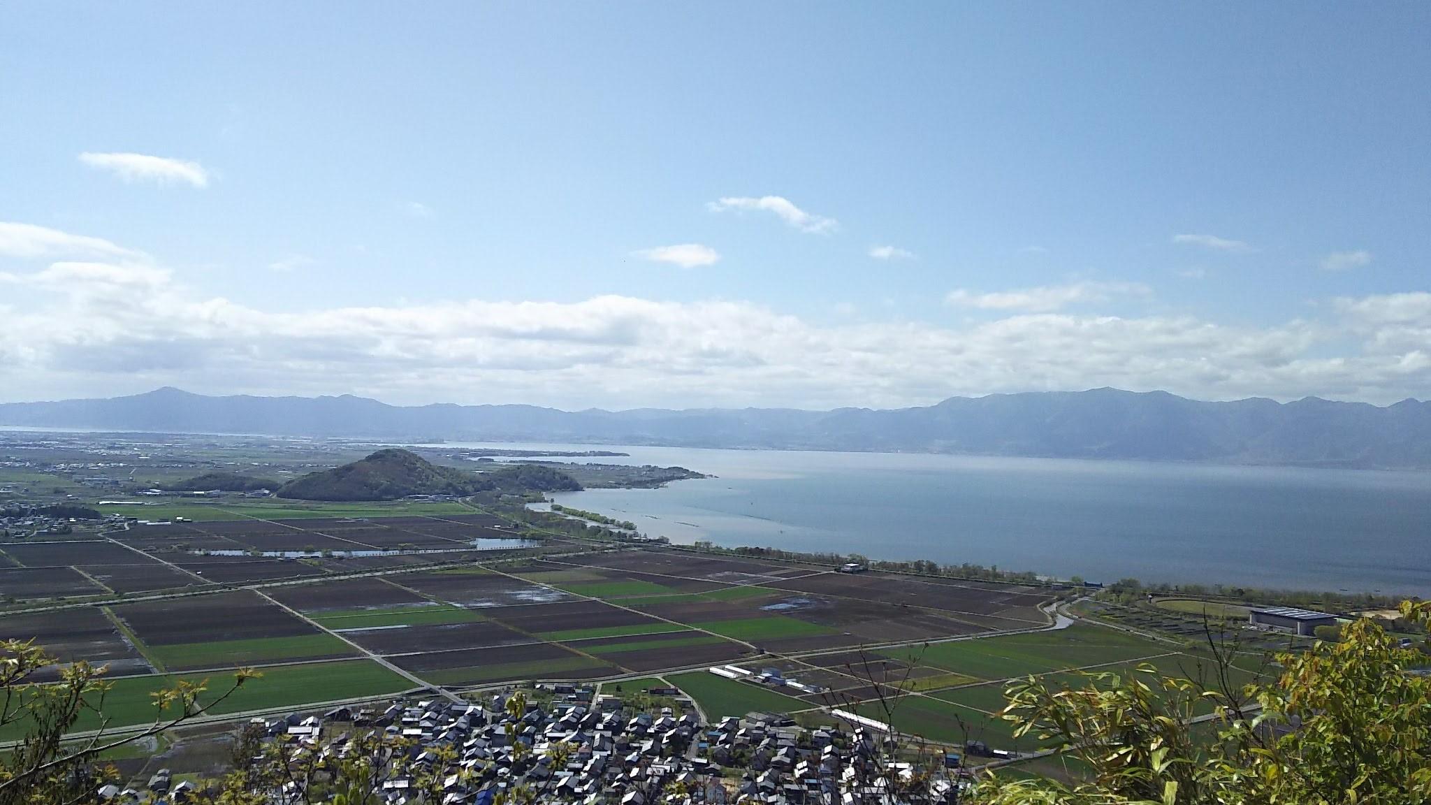 八幡山からの琵琶湖
