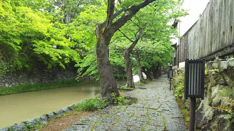 雨の八幡堀