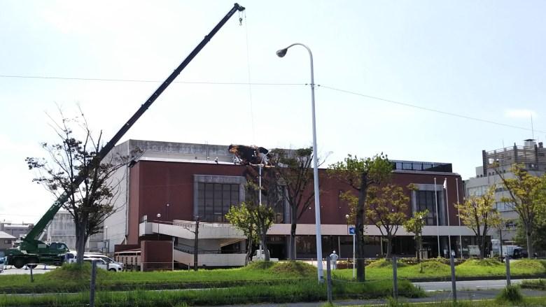 台風一過(台風21号)の近江八幡市