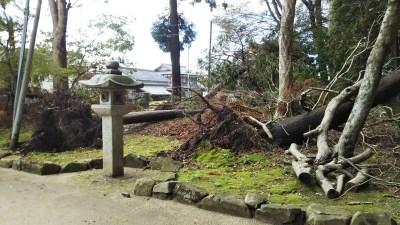 奥石神社_台風被害