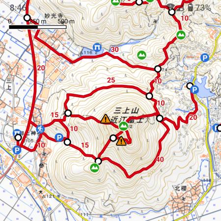 三上山登山道