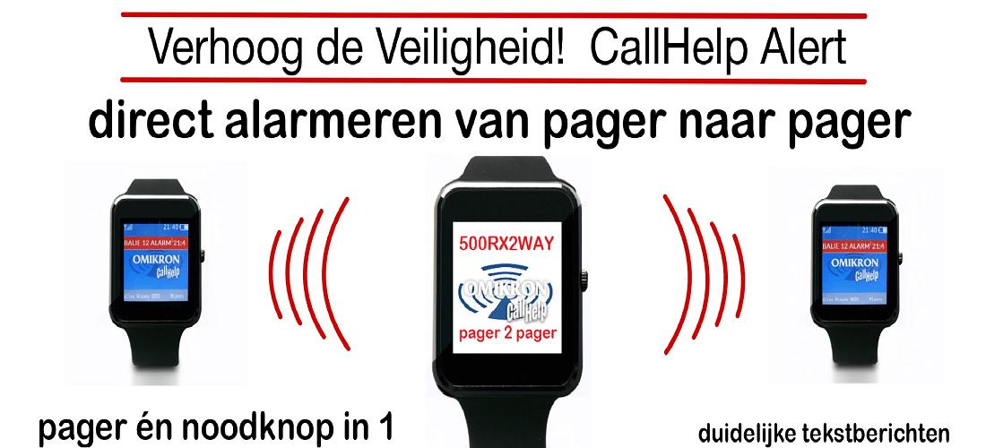 Alarmpager oproepontvanger OPROEPSYSTEEM PAGER NOODKNOP 2-WAY 2WAY
