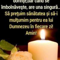 Sa pretuim sanatatea, multumindu-I lui Dumnezeu pentru ea