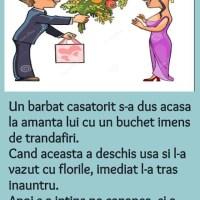 Banc: Amanta si buchetul de trandafiri