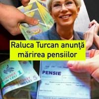 """S-A AFLAT! Raluca Turcan anunţă mărirea pensiilor în 2022. """"Vor creşte cel puţin cu rata inflaţiei"""""""