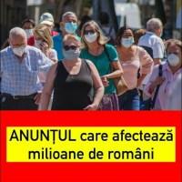 ULTIMA ORA! ANUNȚUL care afectează milioane de români Care sunt noile măsuri pentru nevaccinați? Ce avantaje au persoanele imunizate