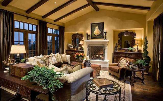 ideje za interier in notranje oblikovanje doma - tradicionalen stil