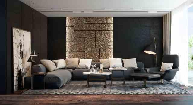interier-design-dnevna-soba-kombinacija-crne-in-zlate-barve