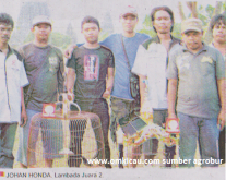 Johan Putra Lambada Juara 2 Lomba Burung Piala HB X