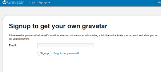 Sign up to Gravatar - Globally Recognized Avatars