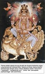 Hamsa adalah sejenis burung akuatik dan diyakini berbentuk angsa, yang berasal dari mitologi Hindu
