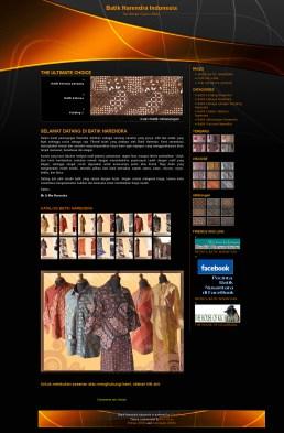 Website Batik Narendra (batiknarendra.com)