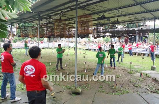 Suasana even perdana Latpres BnR Jambi di Taman Asoka, Jambi, Minggu (28/4).