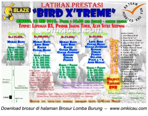 Brusur Latpres Bird Extreme Serpong 19 Mei 2013