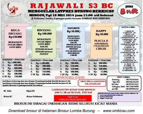 Brosur Latpres Burung Rajawali S3 BC, BSD-Tangsell, 18 Mei 2014