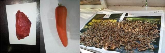 Daging, wortel, dan udang
