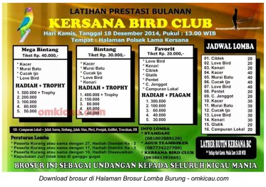 Brosur Latpres Bulanan Kersana BC, Brebes, 18 Desember 2014