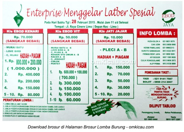 Brosur Latber Spesial JP Enterprise, Depok, 28 Februari 2015
