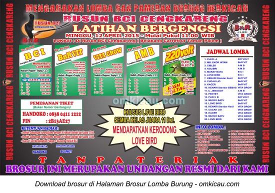 Brosur Latihan Bergengsi Rusun BCI Cengkareng, Jakarta Barat, 12 April 2015