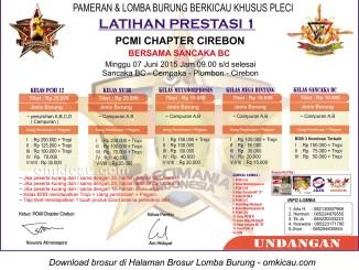 Brosur Latpres-1 PCMI Chapter Cirebon, 7 Juni 2015