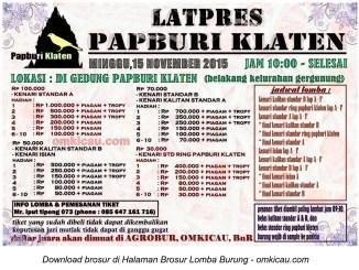 Brosur Latpres Papburi Klaten, 15 November 2015