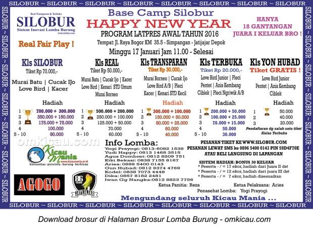 Brosur Latpres Base Camp Silobur Happy New Year, Depok, 17 Januari 2016