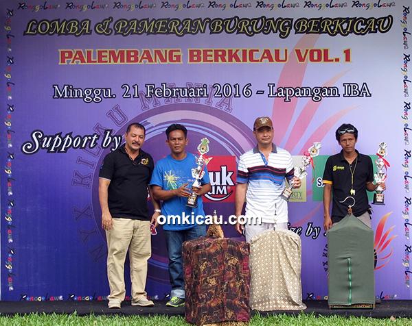 Palembang Berkicau - juara kelas kacer