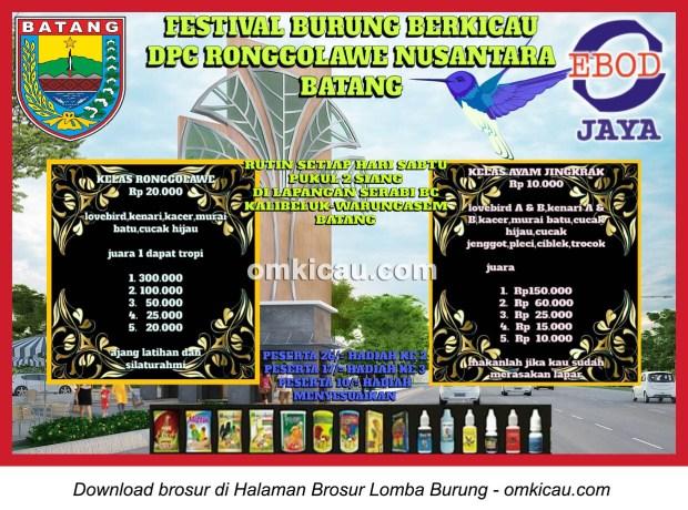 Brosur Latber Rutin DPC Ronggolawe Batang setiap Sabtu jam 2 siang