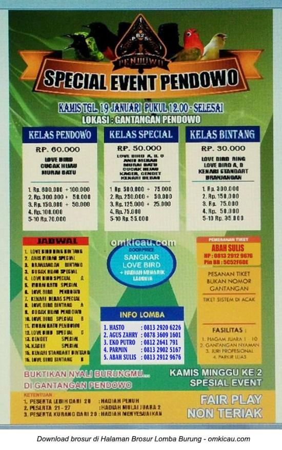 Brosur Latpres Special Event Pendowo, Kartasura, 19 Januari 2017