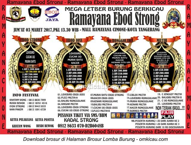 Brosur Mega Latber Ramayana Ebod Strong, Tangerang, 3 Maret 2017
