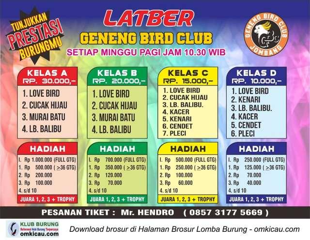 Latber Geneng Bird Club