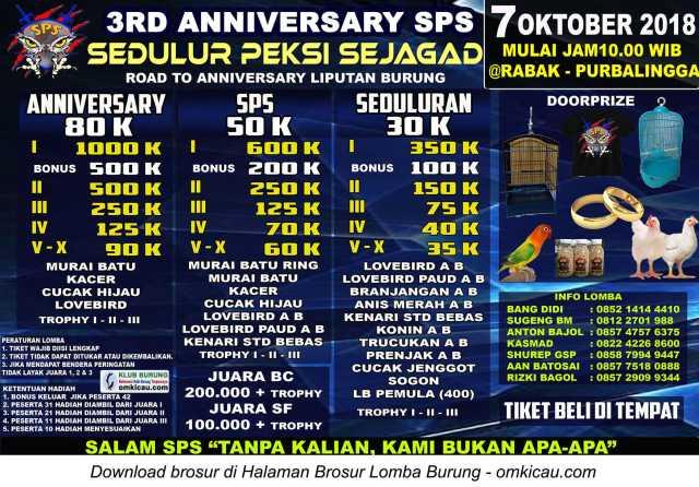 3rd Anniversary SPS