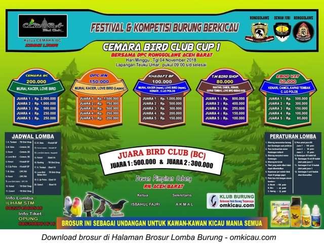 Cemara Bird Club Cup 1
