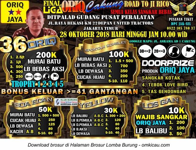 Final Liga Oriq Cakung