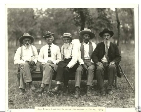 Old Texas Rangers Reunion Menardville Texas 1923 FB Ginger