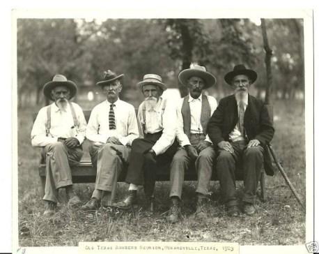 Old Texas Rangers Reunion Menardville Texas 1923 FB Ginger
