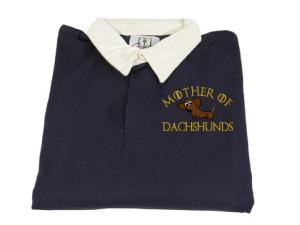 MOTHER OF DACHSHUNDS BLUE RUGBY