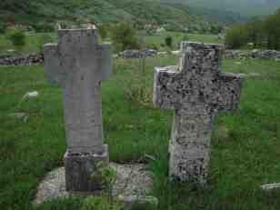Гробље и зид око њега у позадини