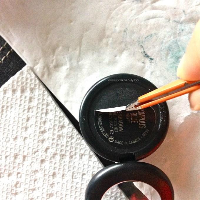 MAC de-potting project peeling label