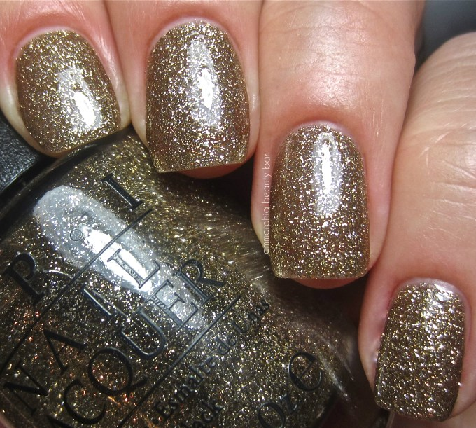 OPI All Sparkly and Gold swatch 2